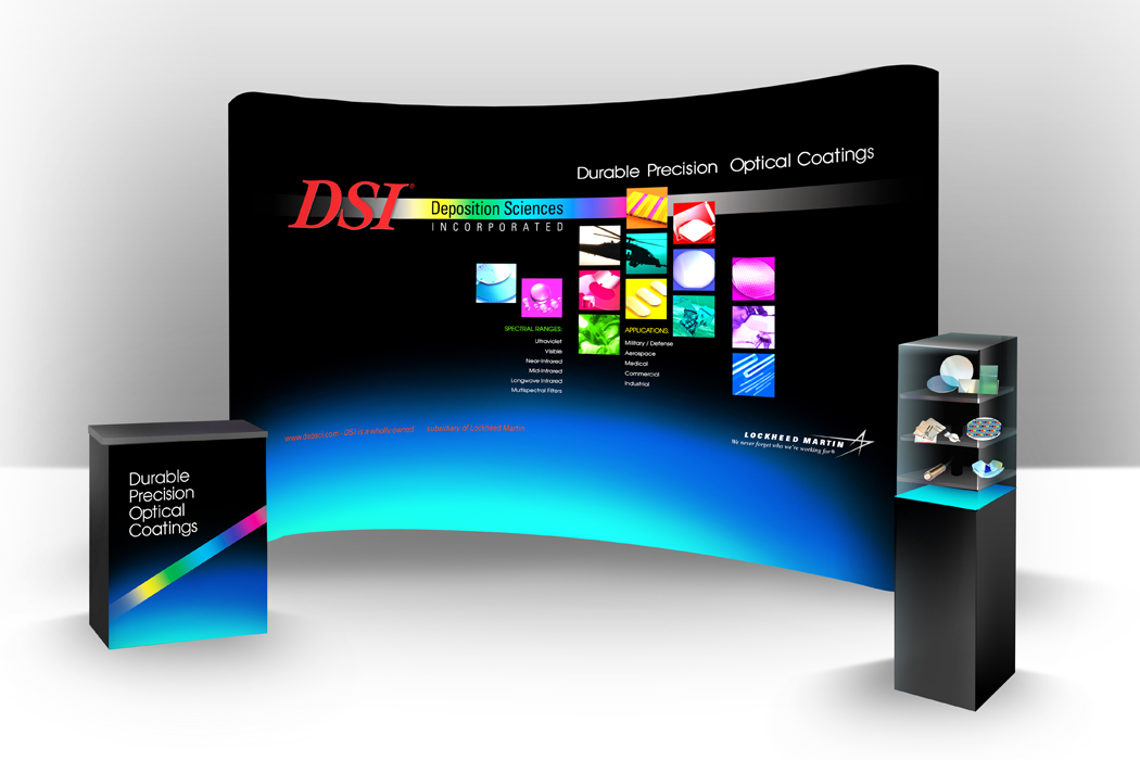 DSI Backlit Tradeshow Booth Highlights Durable Precision Optical Coatings