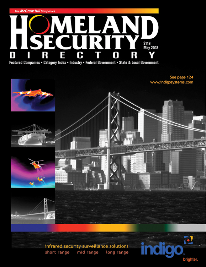 Homeland Security Directory Cover Was Designed by SMM Utilizing Indigo Systems Thermal Images