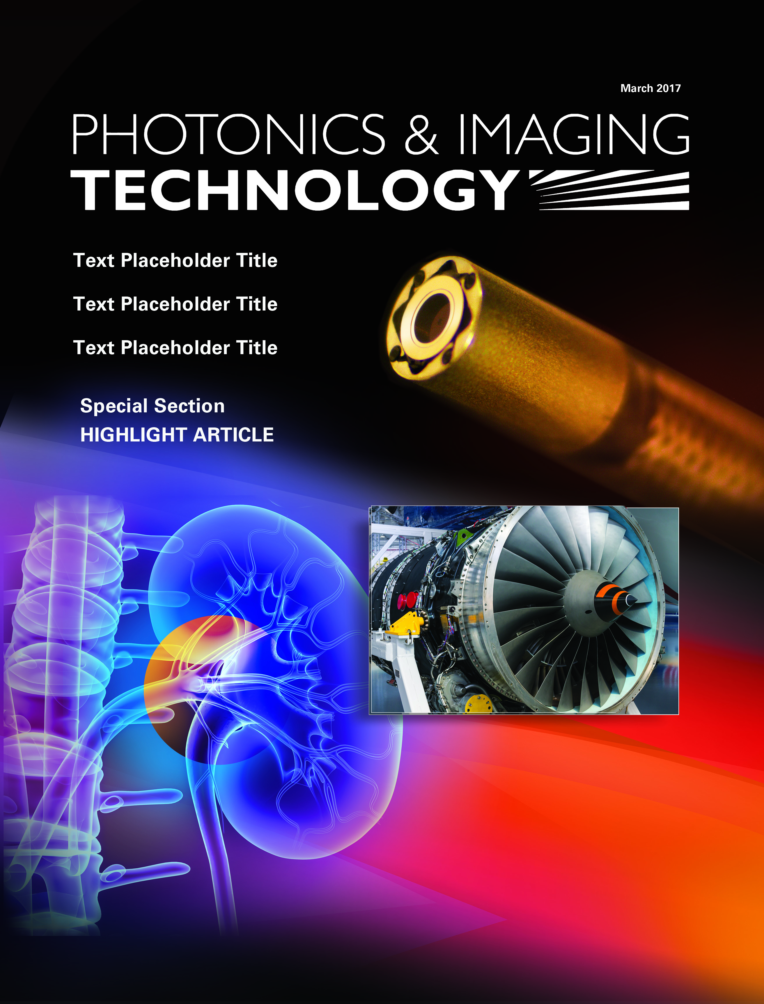 Smith Miller Moore created a Photonics & Imaging Technology cover to highlight the use of chip-on-tip cameras featured in an article by Toshiba Imaging Systems Division