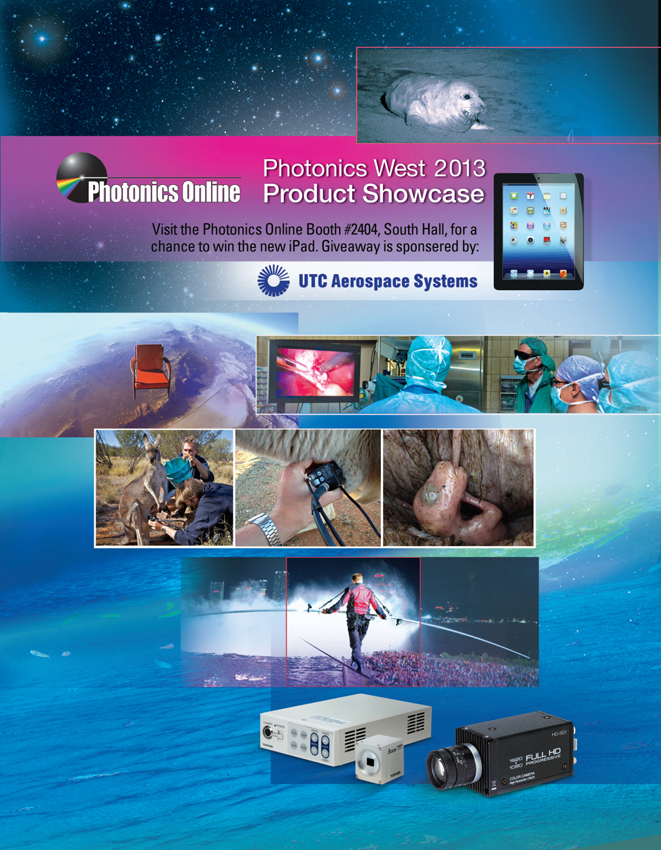 SMM Designed the Annual Photonics Online Product Showcase Cover to Highlight Toshiba Imaging's HD Cameras and Applications