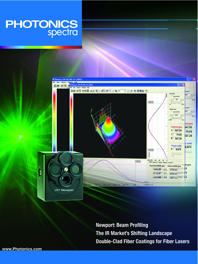 Newport Products Appeared on this Photonics Spectra Cover to Underscore their Feature Article Inside