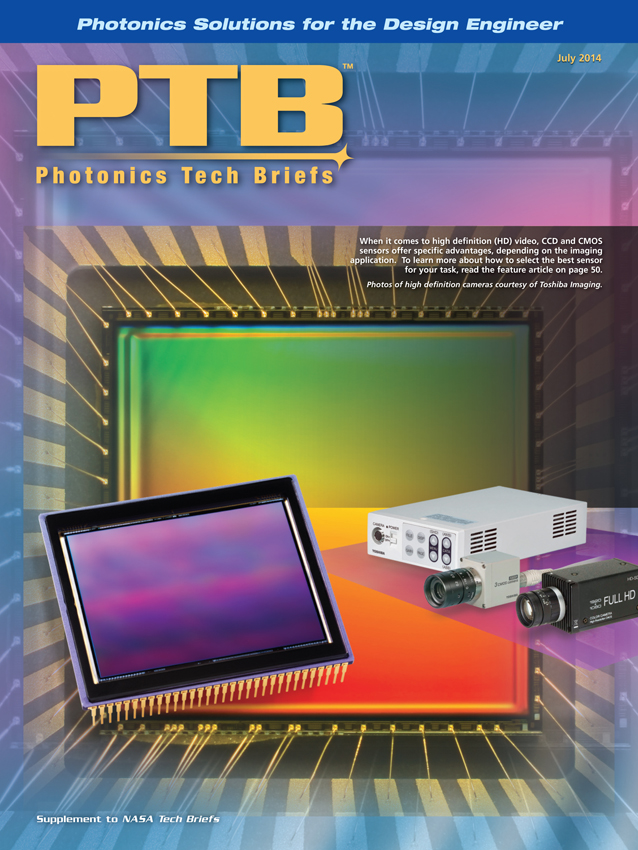 Photonics Tech Briefs Featured Our Cover Design with Toshiba Imaging's CCD and CMOS Cameras