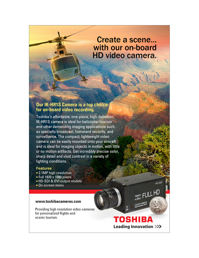 Toshiba Imaging HD Cameras for On-Board Video Recording Ad